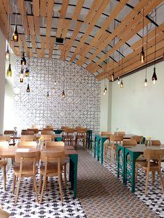 Beautiful design spots on the horizon: My Bratislava City Trip - Prag&Bratislava - Chair Design Interior Design Presentation, Restaurant Interior Design, Shop Interior Design, Bratislava, Cafeteria Design, Wood Cafe, Café Design, Design Blog, Design Ideas