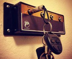 Guitar Hanger - For the Home :: Guitar Amp Key Holder - Legato - Shut Up And Take My Money Store! Casa Rock, Objet Deco Design, Guitar Room, Take My Money, Guitar Amp, Hardware, Diy Projects, House Design, Cool Stuff
