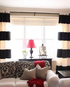 Decorating with black, white, and add one pop of color (red, yellow, turquoise, orange, ...)
