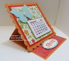 I've been wanting to make an easel card, and she gives the dimensions in this tutorial. #stampinup