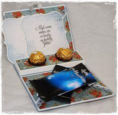 Så kan jeg publisere den siste tutorialen jeg hadde i magasinet Ett Trykk :) En koselig liten sjokolade hilsen til noen man er glad i ♥ ...