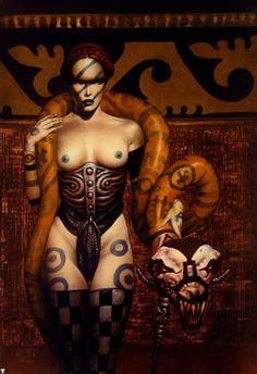 art by John Bolton Famous Artists Paintings, Dark Artwork, Fantasy Pictures, Dark Matter, Sci Fi Art, Comic Artist, Macabre, Female Art, Fantasy Art