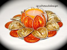 Cup Crafts, Diy And Crafts, Paper Crafts, Dosette Nespresso, Fleur Orange, Schmuck Design, Diy Projects To Try, Tea Lights, Christmas Decorations