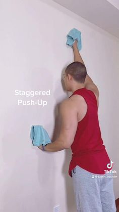 Fitness Workouts, Gym Workout Tips, Fitness Workout For Women, Workout Videos, Easy Workouts For Beginners, Wall Workout, Senior Fitness, Upper Body, Excercise