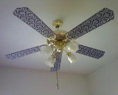 Idéias para decorar ventilador de teto 1
