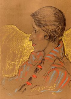 Stanisław Ignacy Witkiewicz, Portret Eugenii Wyszomirskiej-Kuźnickiej, 1935