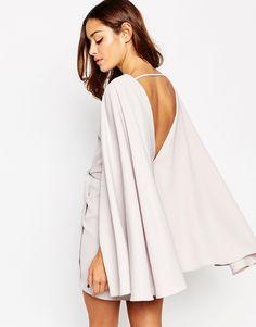 Image 1 ofASOS Extreme Cape Knot Front Mini Dress