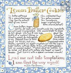 Old Recipes, Vintage Recipes, Cookbook Recipes, Baking Recipes, Cookie Recipes, Dessert Recipes, Desserts, Recipies, Lemon Recipes