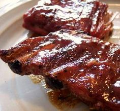 """Applebee's Honey Barbecue Riblets: """"I recommend slow cooking these for the full 5 hours — the meat literally fell off the bones. Plus, the sauce has a great mixture of sweet flavors. I highly recommend this!"""" -Tom in Maryland"""