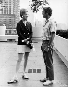 Faye Dunaway and director Norman Jewison on the set of The Thomas Crown Affair, 1968