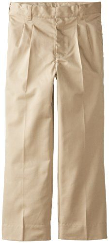 3bfc721f8b25 CLASSROOM Big Boys Adjustable Waist Pleat Front Pant Khaki 8 -- You can  find more