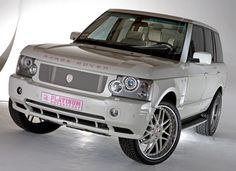 White Range Rover...my dream car..white with pink!!! LOVE LOVE LOVE!!