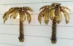 "Pair of ""palm tree"" wall lights - wall lamps - Lighting - Via Antica"