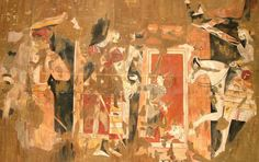 Sogdian mural from Panjakent, 6th-8th Centuries, reconstruction