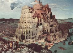 The Tower of Babel (La tour de Babel), by Pieter Bruegel l'Ancien (the Elder) (Flemish, in Kunsthistorisches Museum, Vienna and Museum Boijmans Van Beuningen, Rotterdam Google Art Project, Painting Frames, Painting Prints, Art Prints, Canvas Prints, Art Paintings, Canvas Art, Painting Wallpaper, Wallpaper Desktop
