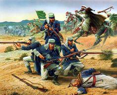 La Legión Extranjera combatiendo en el Norte de África, cortesía de Peter…