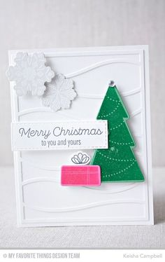Trim the Tree, Snow Drifts Cover-Up Die-namics, Snowflake Flurry Die-namics, Trim the Tree Die-namics - Keisha Campbell  #mftstamps