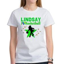 GO BASKETBALL Women's T-Shirt Every Basketball Player will love our Personalized Girls' Basketball Tees and Gifts.  http://www.cafepress.com/sportsstar/13293761 #Girlsbasketball #Lovebasketball #Basketballgift #Basketballchick #Hoopdreams