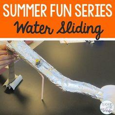 STEM Activity Challenge Build a Water Slide - Variation on Marble Roller Coasters - probably best outside