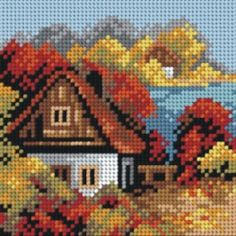 Cross Stitch House, C2c Crochet, Polymer Clay Flowers, Plastic Canvas, Four Seasons, Cross Stitch Embroidery, Needlepoint, Amazing Art, Quilts