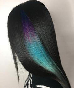 Purple And Teal Peek-A-Boo Highlights