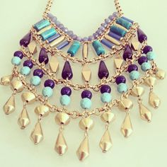 Stella & Dot Malta Bib necklace: debuts 4/4/14 Summer 2014 collection