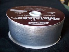 Silver Metalique Berwick Polyester Fabric Ribbon Woven Edge 25 yrds. Wedding DIY