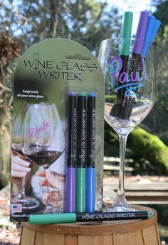 Pastel Wine Glass Writer three pack. Three different colors.