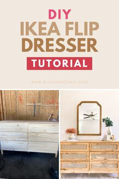 Want to see my new favorite IKEA flip? Take this drab tarva dresser and turn it into a fab cane dresser! It will take no time to make your dream dresser! Our step by step instructions will give you the inspiration you need! #ikeadiy #tarvadresser #diycanedresser #dreamdresser #stepbystep