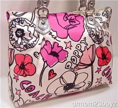 89 best coach bags images on pinterest coach bags coach purse and new nwt coach poppy signature floral petal glam tote purse ivory mightylinksfo