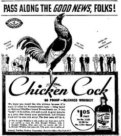 Chicken Cock Whiskey - Pennsylvania taste - Morning Herald - Uniontown PA - Sep 8 1936