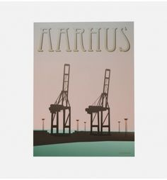 AARHUS KRANERNE af Vissevasse. Køb smukke illustrationer fra Vissevasse på http://finderskeepers.dk/artworks/aarhus-kranerne.html