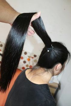 Long Hair Ponytail, Ponytail Updo, Long Ponytails, Straight Ponytail, Ponytail Hairstyles, Cut My Hair, Your Hair, Long Indian Hair, Super Long Hair