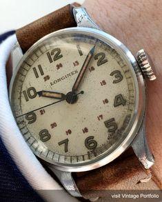 Wonderful early Longines Military watch