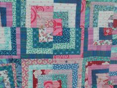 cool peppermint vintage fabrics mixed with larger scale prints.