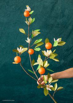 Handmade Orange Blossom Branch ~ Lia Griffith