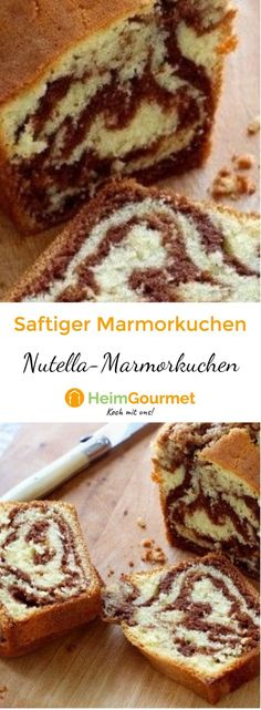 Home gourmet shows step by step how to make a juicy marble cake with Nutella. The post Quick & easy: juicy MARBLE CAKE with NUTELLA how it works appeared first on Dessert Platinum. Easy Smoothie Recipes, Easy Smoothies, Healthy Dessert Recipes, Baby Food Recipes, Cake Recipes, Snack Recipes, Snacks, Marble Cake, Coconut Recipes