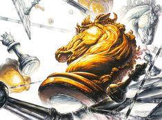 대구 제3 미술학원 체스말 체스판 기초디자인 Marker Art, Horse Head, Graffiti Art, Drawing Reference, Cool Drawings, Colored Pencils, Illusions, Lion Sculpture, Sketches