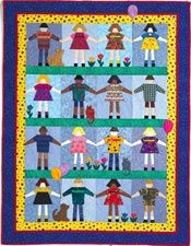 PS Recess - quilt pattern based on folded paper doll chains.
