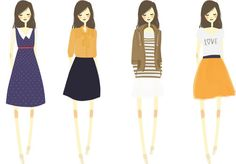 simple fashion illustration