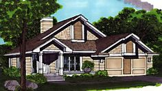 Floor Plan AFLFPW71096 - 1 Story Home Design with 2 BRs and 2 Baths