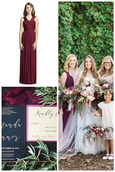 We Love The Richeness Of A Burgundy Accent For Fall Wedding