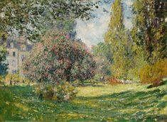 Le Parc Monceau, par Claude Monet