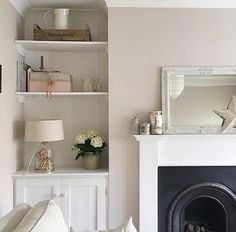 Love these alcoves @we.made.this.home The panelling behind the shelves and in the doors finishes it off beautifully #alcove #alcoves #alcovelogstorage #shelves #livingroom #livingroomdecor #livingroominspo #livingroominspiration #livingroominterior #interior #interiorlove #interiorinspo #alcoveunits #alcovecupboards #alcovecupboardsandshelving #fireplace #lounge #loungeinspo #loungedecor #frontroom #frontroomdecor #sittingroom #interior4you #interiordesign