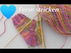 Die Herzkäppchen Ferse   Socken stricken -Die Ferse - YouTube