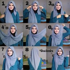 Check out this cute hijab style you can make using your square scarves folding them into a triangle, it covers your chest and back beautifullly and give you a loose look for spring and summer styles. Here are the steps… by dominique