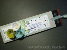 Kirstens Stempelkiste: Schokoziehverpackung Can be made into a gift bookmark