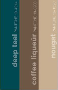 Teal and Coffee Brown...Sunny, I think this could be great. Especially if the guys were in this brown
