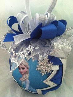 Disney's Frozen Inspired Elsa Quilted Star Christmas Ornament on Etsy, $20.00