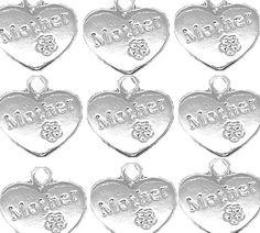 Rockin Beads Brand, 18 Mother 2 Sided Heart Charms Shiny Silver Plated Zinc 5/8 Inch (17mm) Package of 18 Rockin Beads (TM) http://www.amazon.com/dp/B00GGRP9EI/ref=cm_sw_r_pi_dp_1Ocuub1SJZDX3